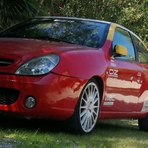 10691  Alquiler Citroen Xsara Rojo y amarillo frontal