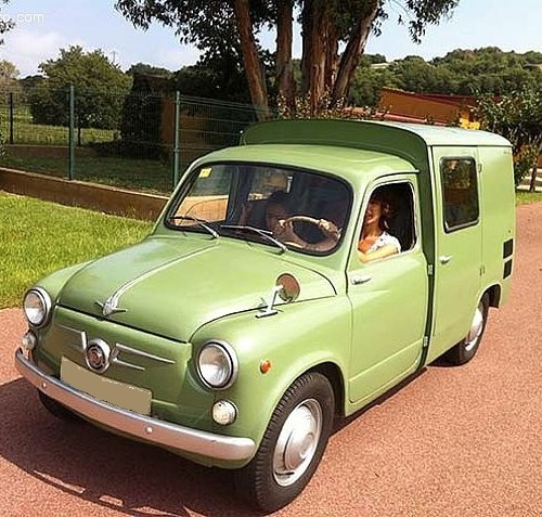 P0035 Siata formicheta 1967 verde For rent Prop Action Picture Vehicles in Spain