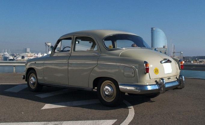 P0181 Seat 1400 B Especial 1958 Crema interior trasero