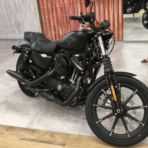 P0182 Alquiler Harley Davidson Iron 883 negro lateral