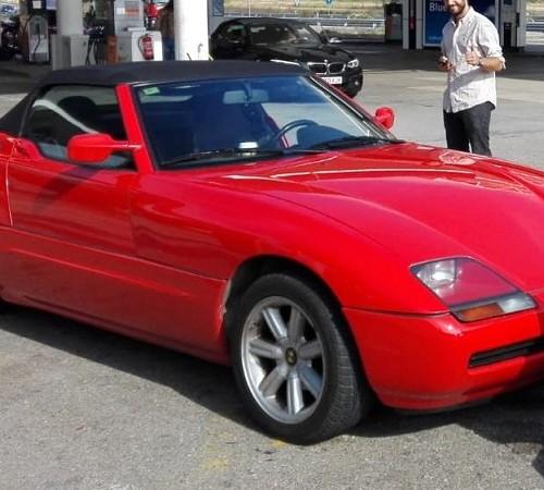 P0057 Alquiler BMW Z1 rojo frontal