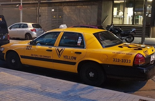 P0014 alquiler taxi americano amarillo crown victoria  barcelona madrid san francisco tyreaction lat
