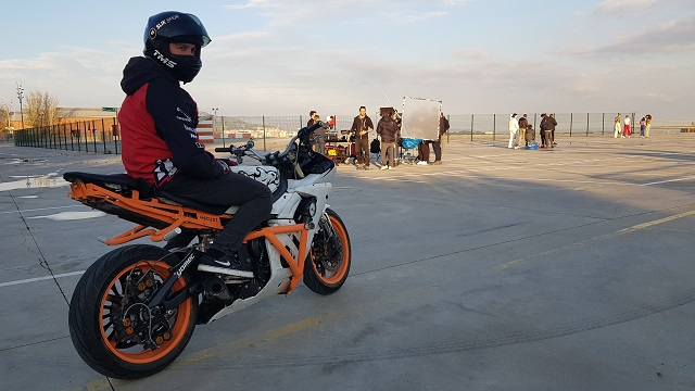tyreaction making of  video primavera sound especialistas cine barcelona stunt moto caballito 3