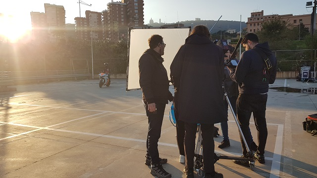 tyreaction making of  video primavera sound especialistas cine barcelona stunt moto caballito 4