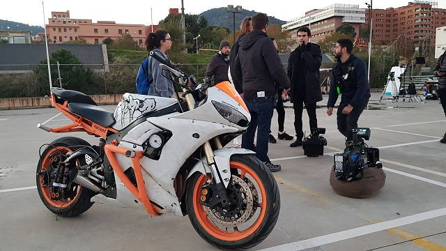 tyreaction making of  video primavera sound especialistas cine barcelona stunt moto caballito alquiler yamaha r6