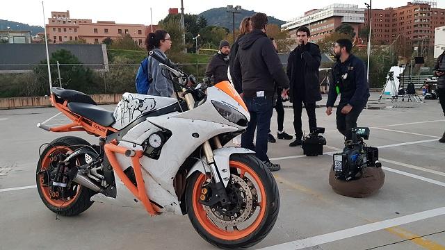 tyreaction making of  video primavera sound especialistas cine barcelona stunt moto caballito alquiler yamaha r6