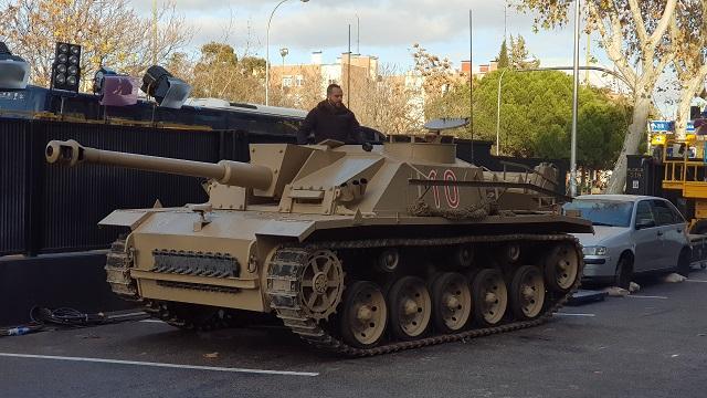 tyreaction alquiler tanque carro de combate el hormiguero pilar rubio jordi nebot peliculas television 1