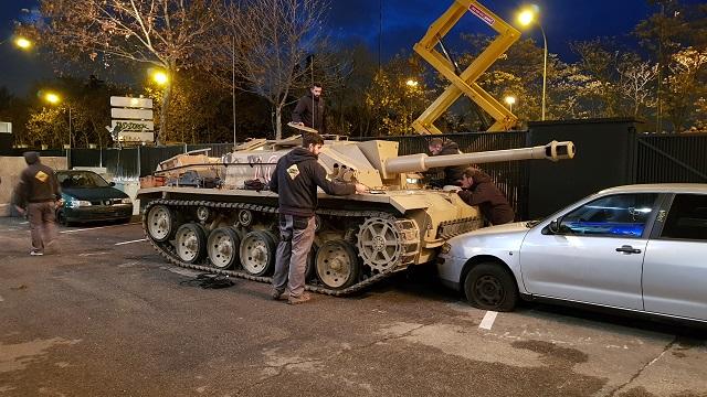 tyreaction alquiler tanque carro de combate el hormiguero pilar rubio jordi nebot peliculas television 2