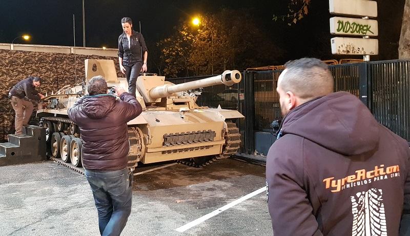 tyreaction alquiler tanque carro de combate el hormiguero pilar rubio jordi nebot peliculas television 5
