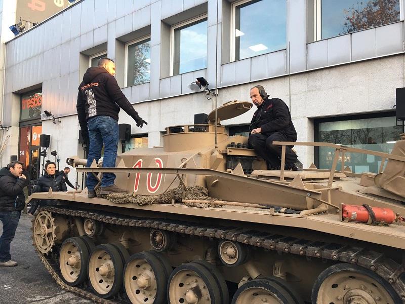 tyreaction alquiler tanque carro de combate el hormiguero pilar rubio jordi nebot peliculas television 7