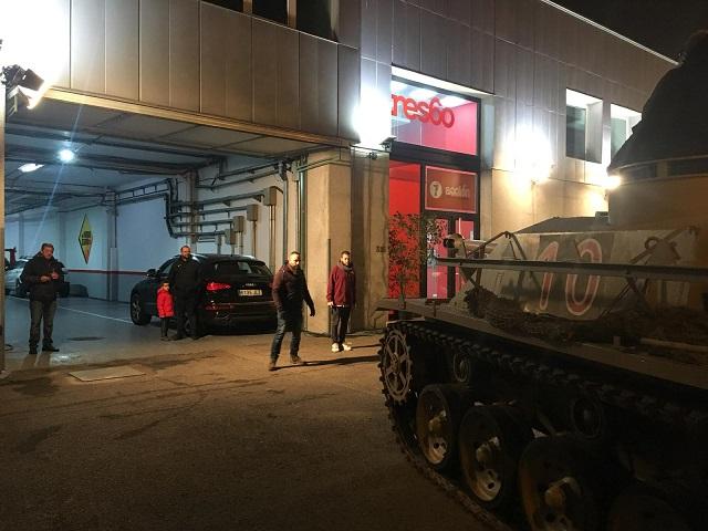 tyreaction alquiler tanque carro de combate el hormiguero pilar rubio jordi nebot peliculas television 8