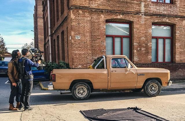 tyreaction making of anuncio panama jack vehiculos de escena alquiler dodge ram pickup americana clasica vehiculos e escena
