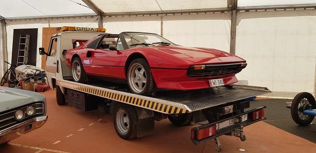 tyreaction vehiculos de escena alquiler rent classic ferrari 308 classic car making of anuncio toyota corolla