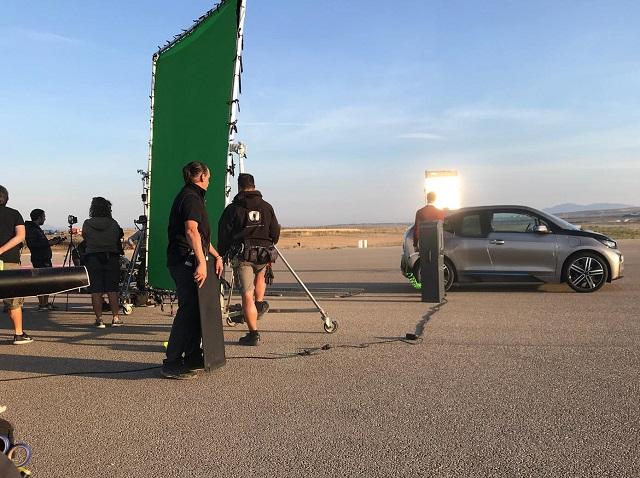 tyreation alquiler coche bmw i3 electric vehiculos de escena cine publicidad