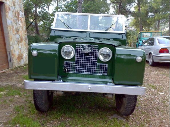p0013 alquiler land rover militar serie 1 verde front