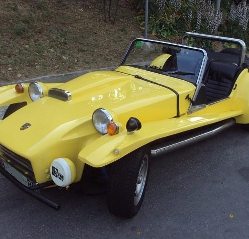 p0044 alquiler coche marca Mallorca amarillo front