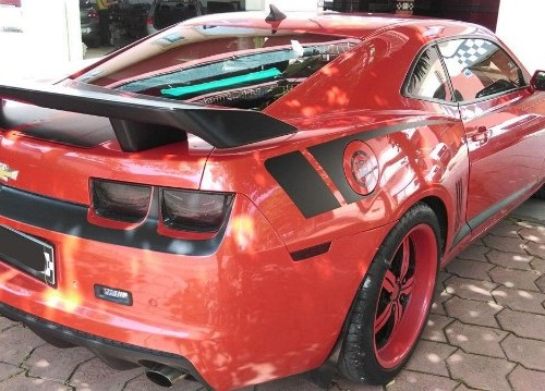 Alquiler Chevrolet camaro rojo front barcelona