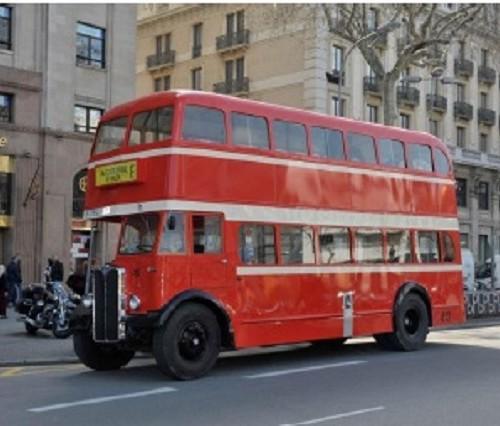 P0027 tyreaction alquiler autobus inglés barcelona rent london bus dos pisos rojo lat