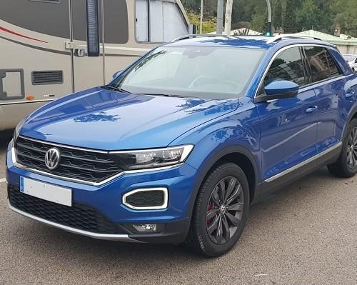 0001 alquiler volkswagen t-roc vehículos de escena tyreaction azul front