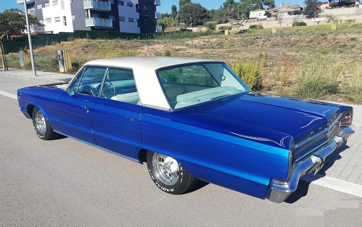 10772 Dodge Polara 1966 azul lateral