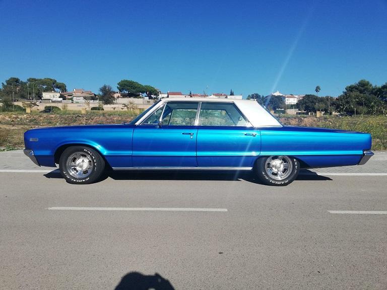 10772 Dodge Polara 1966 azul