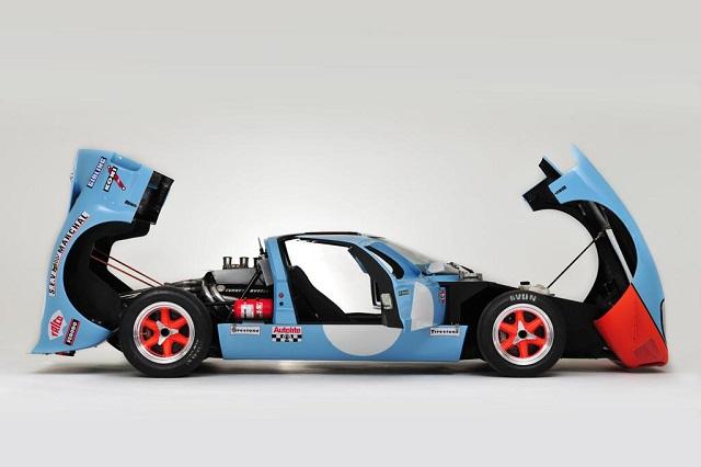 p0161 alquiler ford gt 40 edición GULF competicion carreras azul int tyreaction vehículos de escena rent picture vehicles spain