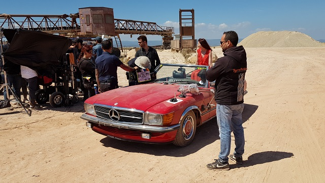 tyreaction precision driver chica rodaje babyliss alquiler mercedes SL clasico para rodajes vehículos de escena barcelona madrid picture vehicles spain rojo 5