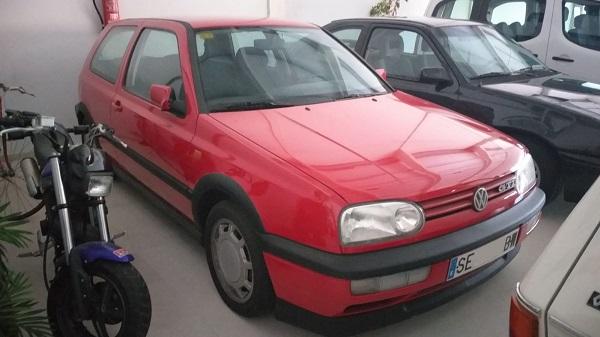 PA0007 Alquiler volkswagen golf gti mk3 rojo andalucia tyreaction front