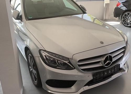 PM012 Alquiler Mercedes C350 frontal plata Madrid