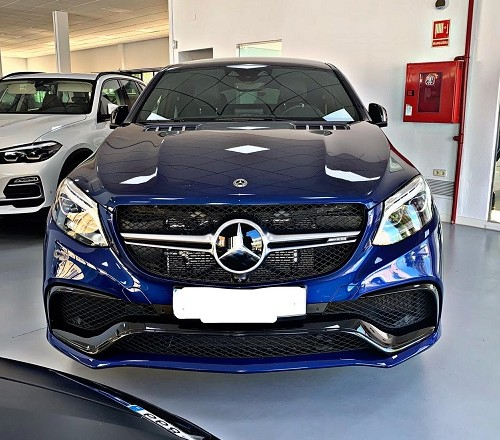 PM012 Alquiler Mercedes GLE G3S azul frontal Madrid