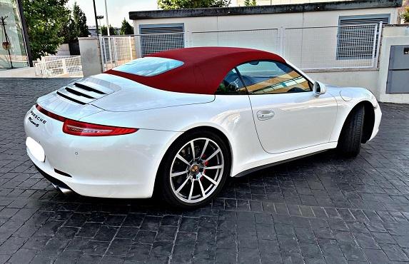 PM012 Alquiler Porsche 911 991 blanco Madrid