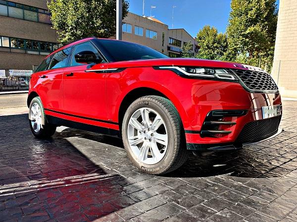 Pm012 alquiler range rover vehículos escena madrid rojo front tyreaction