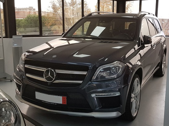 PM012 Alquiler Mercedes GL gris Madrid
