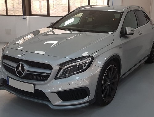 PM012 alquiler Mercedes gla gris madrid frontal