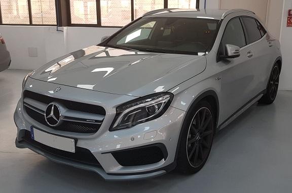 PM012 alquiler Mercedes gla gris madrid frontal
