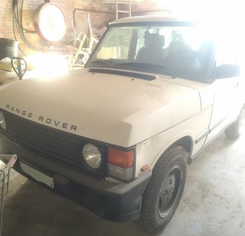 pm014 alquiler 4x4 land rover range 3 puertas tyreaction madrid vehículos de escena blanco front