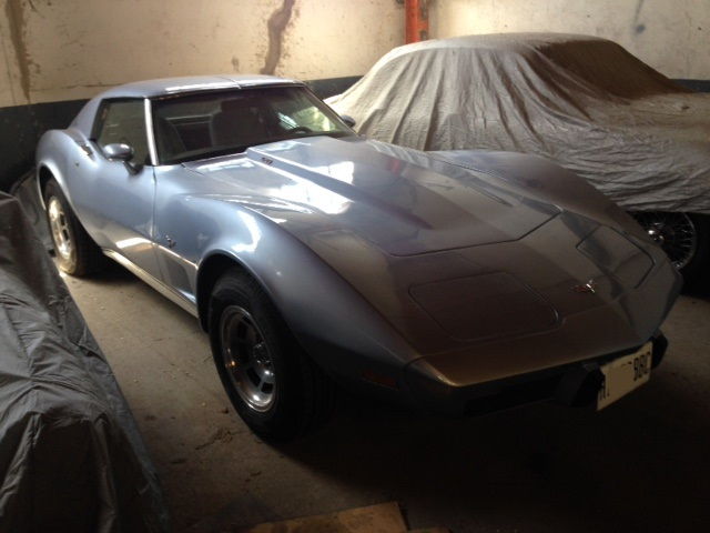 pm014 alquiler coche americano chevrolet corvette clasico vehículos de escena madrid tyreaction azul front