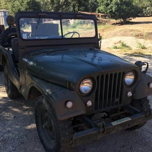 pm014 alquiler jeep willys 2 militar americano tyreaction madrid vehículos de escena verde front