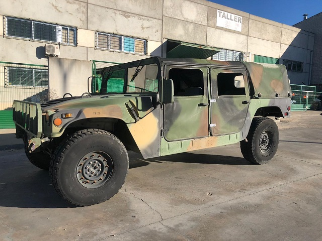 pm014 alquiler vehiculo blindado hummer h1 militar humbee películas belicas español madrid tyreaction verde lat