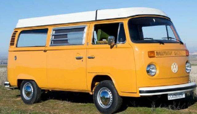 pm0011 alquiler volkwagen t1 t2 hippie madrid vehículos de escena naranja tyreaction front