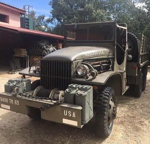 pm014 alquiler camión militar americano verde vehículos de escena bélicos madrid tyreaction front