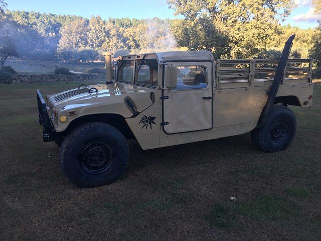 pm014 alquiler vehículo blindado americano hummer h1 militar humbee pickup películas belicas español madrid tyreaction arena lat
